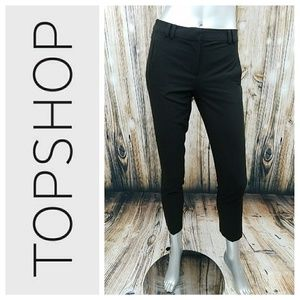 Black Cropped Dress Pants